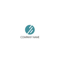round stripe technology company logo vector image