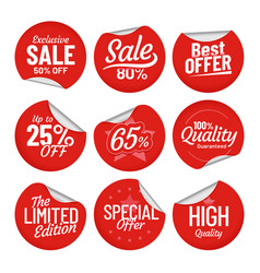 sale sticker shopping tag label red on sale vector image