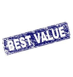 Scratched best value framed rounded rectangle vector