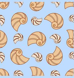 seashell seamless pattern sea nature vector image