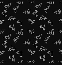 security camera dark seamless pattern vector image