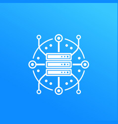 Server hosting data storage icon vector