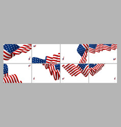set of usa banner background design vector image