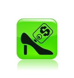 shoe price vector image