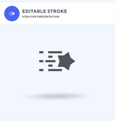 shooting star icon filled flat sign solid vector image
