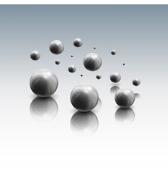 Spheres in motion on gray background vector image