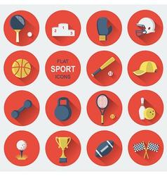 Sport equipmentsFlat icons vector