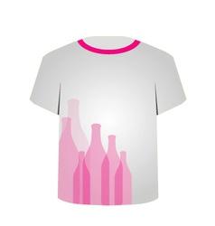 T Shirt Template- bottles vector