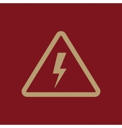 The lightning icon Danger symbol Flat vector