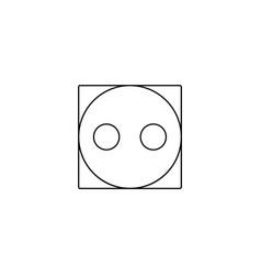 Tumble medium dry washing laundry symbol line vector