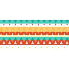 Vibrant ikat stripes horizontal seamless pattern vector image