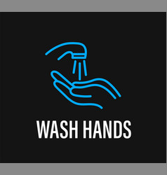 Wash hands coronavirus protection campaign vector