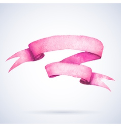 Watercolor ribbon vector image