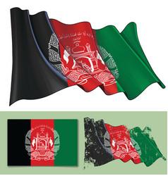 waving flag of afghanistan vector image