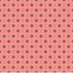 White And Brown Vintage Graphic On Pink Background vector image