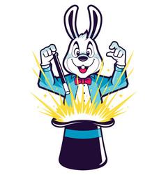White rabbit magic trick vector