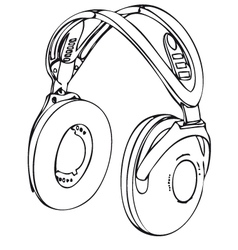wireless headphone vector image