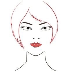 women face with red hair vector image