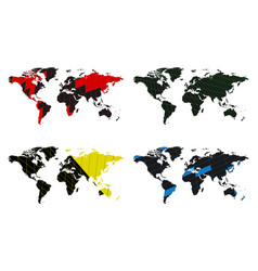 World map set advertising poster business vector