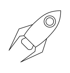 Rocket startup launch thin line vector