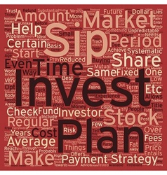 SIP Systematic Investment Plan text background vector image