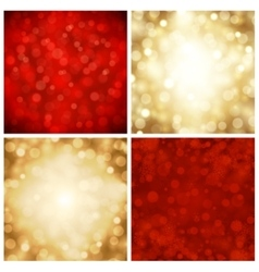 abstract bokeh christmas lights vector image vector image