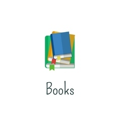 book signs and symbols - education concepts vector image