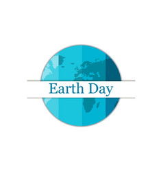 earth day planet earth festive background vector image vector image
