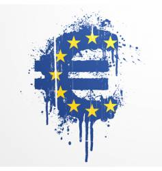 european union euro splatter element vector image vector image
