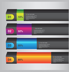 percentage infographic bars vector image vector image