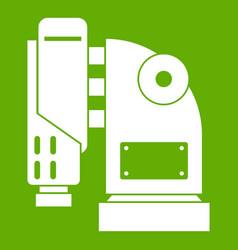 Pneumatic hammer machine icon green vector
