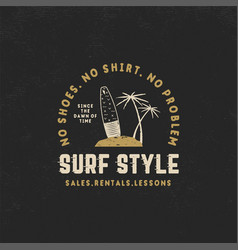 surf style vintage label summer surfing style vector image