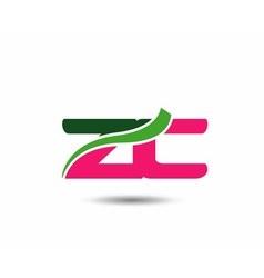 Alphabet z and c letter logo vector