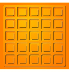 Bright orange vector image