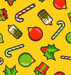 Christmas ornament patch icon pattern background vector image vector image