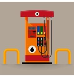 Gas pump station vector image vector image