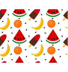 seamless texture of ice cream with fruit vector image vector image