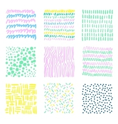 Set hand drawn textures vector image vector image