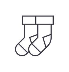 socks line icon sign vector image