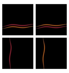 Black Background Set With Waves eps10 vector image vector image