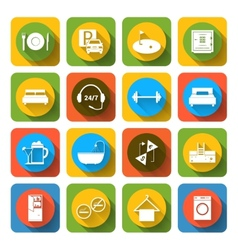 Hotel icons set flat vector image vector image