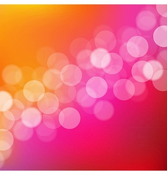 Lights Background With Bokeh vector image vector image