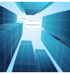 Perspective 3d building Abstract poster vector image