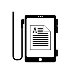 Reader document phone electronic book icon vector