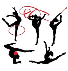 Rhythmic Gymnastics Silhouette vector image