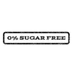 0 percent sugar free watermark stamp vector