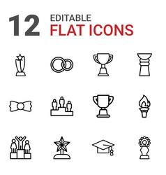 12 ceremony icons vector