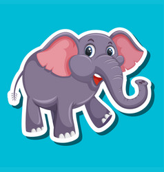 A simple elephant sticker vector