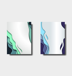 abstract banners in with colorful abstract 3d vector image