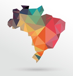 Abstract Brazil map vector image